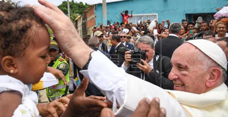 El papa Francisco durante su viaje a Colombia en 2017