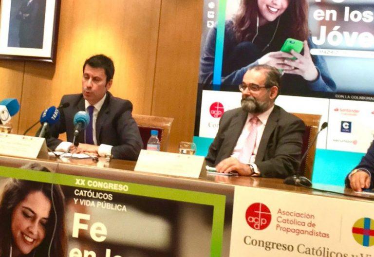 José Luis Díez, Alfonso Bullón y Rafael Ortega, en el Congreso Católicos y Vida Pública