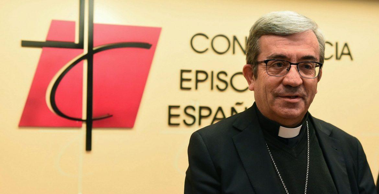 GRAF3145. MADRID (ESPAÑA), 21/11/2018.- El nuevo secretario General de la conferencia Episcopal, Luis Arguello García, durante la rueda de prensa esta mañana en la sede de la Conferencia en Madrid.-EFE/Fernando Villar