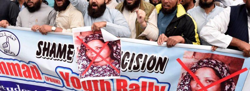 Manifestación en contra de la absolución de la cristiana Asia Bibi en Pakistán/EFE