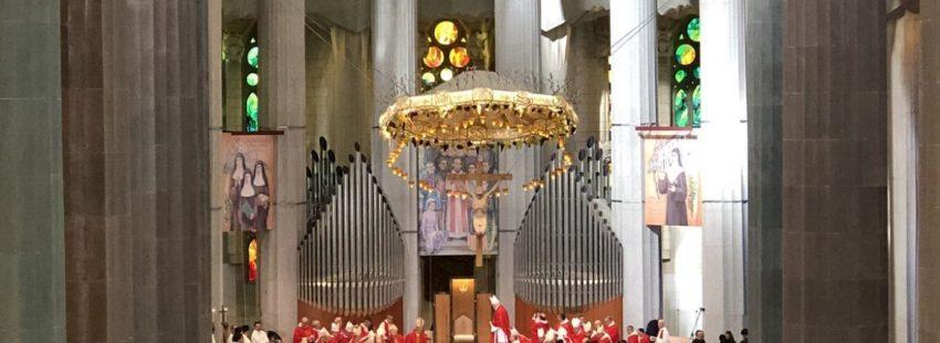Misa de beatificación de 16 mártires en la Sagrada Familia de Barcelona