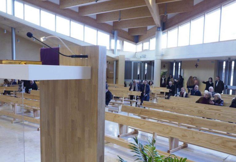 Interior de una parroquia de Valladolid