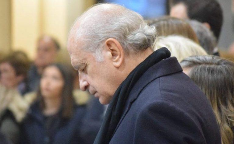 El ex ministro Jorge Fernández Díaz, durante la eucaristía en el Cerro de los Ángeles