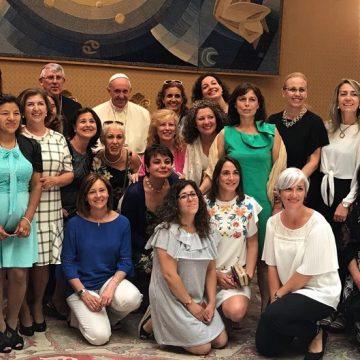 Audiencia con el Papa del grupo santa teresa en 2017