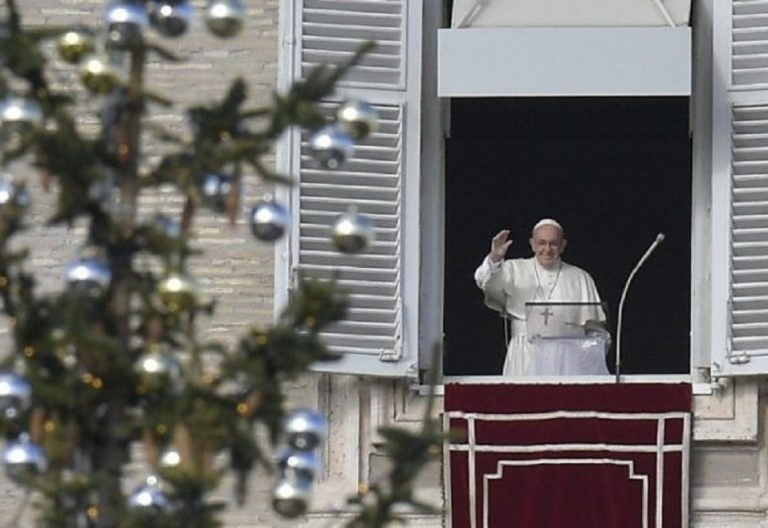 francisco en la oracion del angelus del segundo domingo de adviento 2018