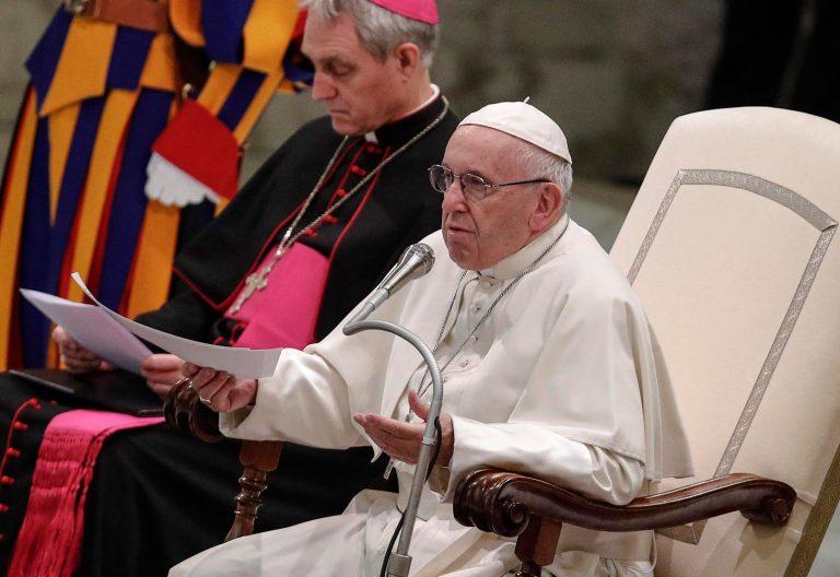 El papa Francisco en la audiencia general del 12 de diciembre de 2018