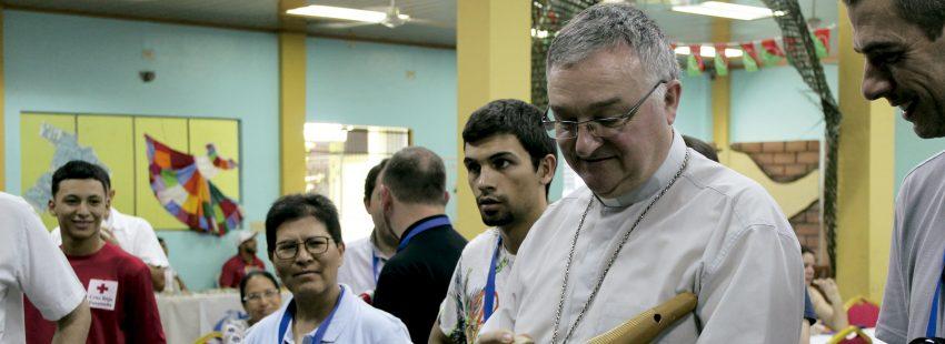 El obispo de Teruel, Antonio Gómez Cantero, en la JMJ de Panamá