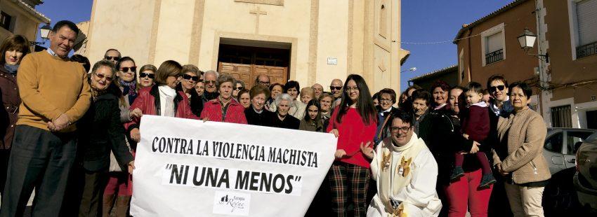 Parroquia de Albacete donde se ha hecho un gesto a favor de las víctimas de violencia de género