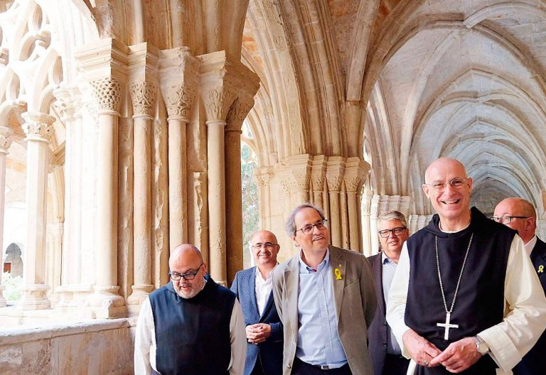 Quim Torra, de visita en el Monasterio de Poblet