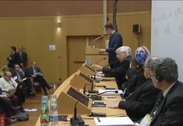 Arturo Sosa, en la cumbre antiabusos del Vaticano