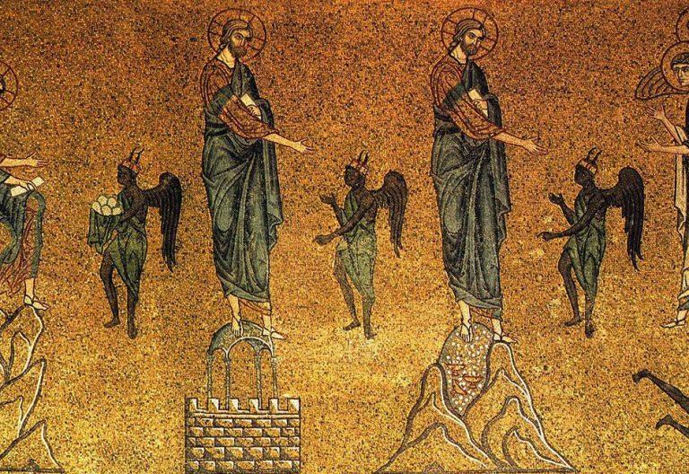 Tentaciones de Jesús en el desierto (Basílica de San Marcos de Venecia)