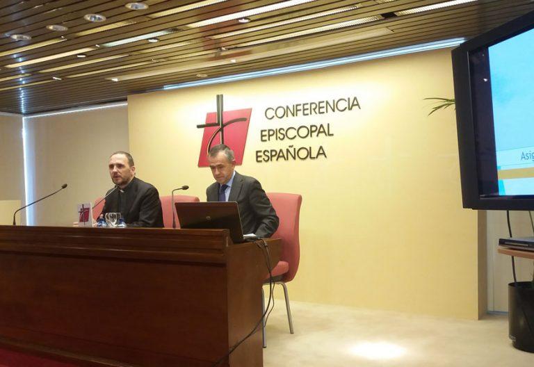 Fernando Giménez Barriocanal durante la presentación de los datos de la declaración de la renta correspondiente a la campaña de 2018 el 5 de febrero de 2019