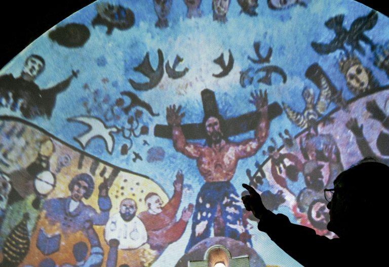 Pinturas en la iglesia de Palau-Sator