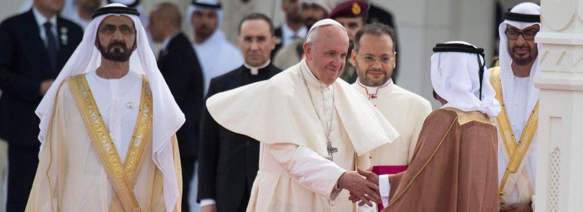 El papa Francisco en su viaje a Abu Dabi