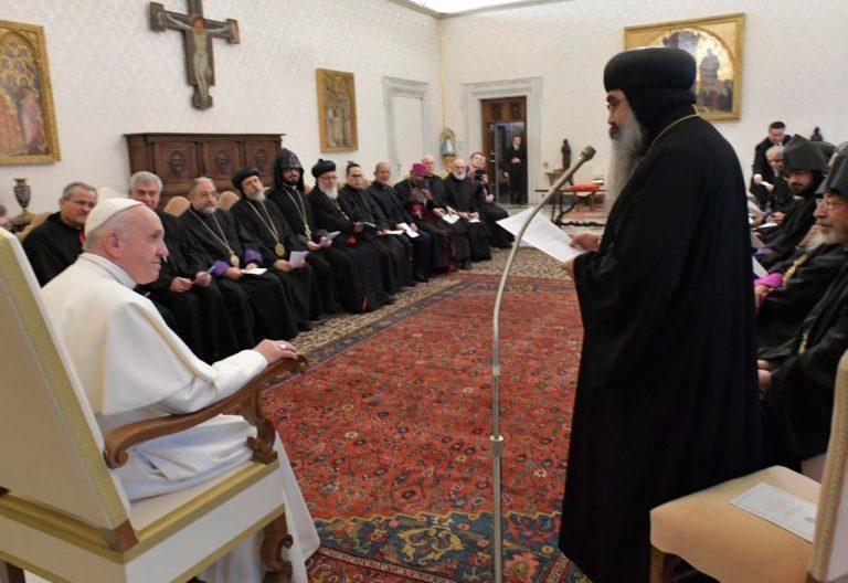 El papa Francisco con líderes de las Iglesias ortodoxas orientales