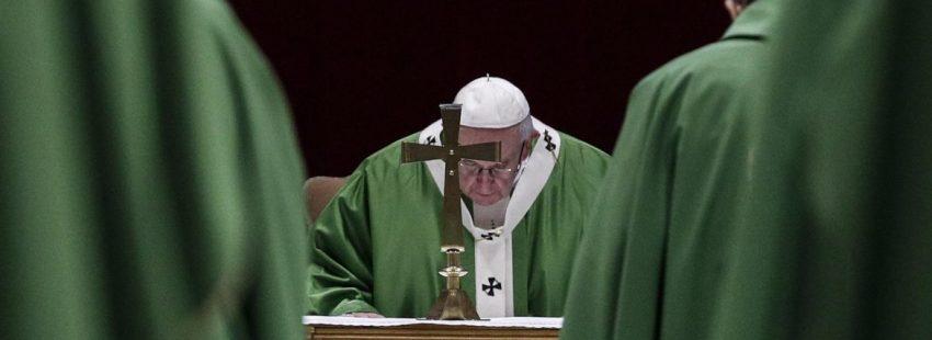 El Papa Francisco, durante la misa conclusiva de la cumbre antiabusos del Vaticano/EFE