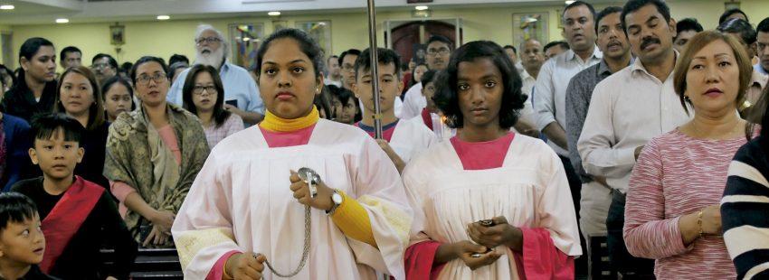 Misa en una parroquia salesiana de Emiratos Árabes Unidos
