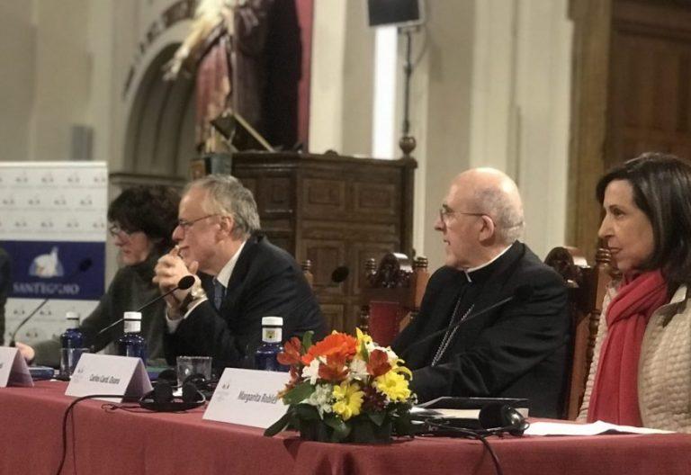 Margarita Robles, Carlos Osoro, Andrea Riccardi y Tíscar Espigares