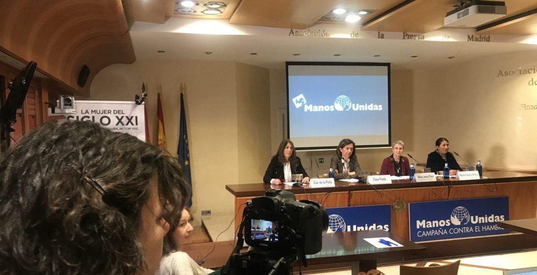 Manos Unidas presenta su campaña contra el hambre en la Asociación de la Prensa de Madrid