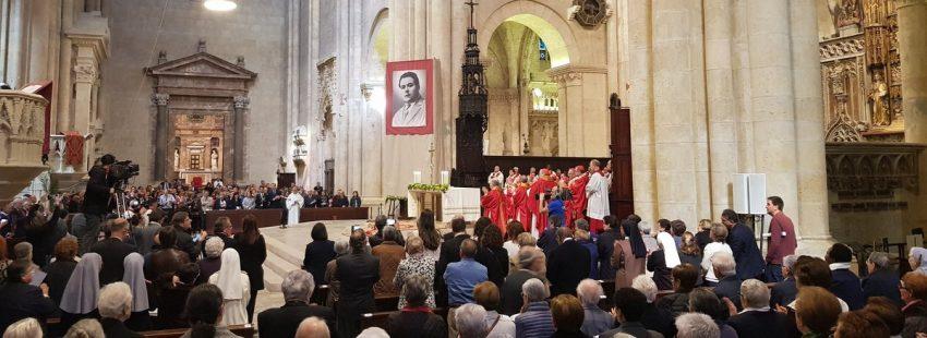 Angelo Becciu, prefecto de la Congregación para las Causas de los Santos, en la beatificación de Mariano Mullerat en la catedral de Tarragona