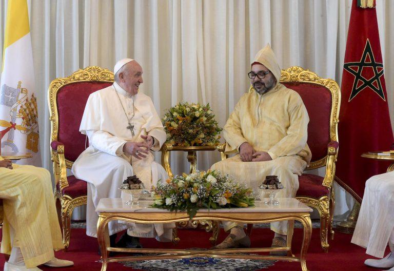 Francisco con Mohamed VI en Marruecos