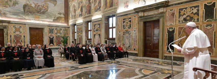 Camilos audiencia con el papa Francisco