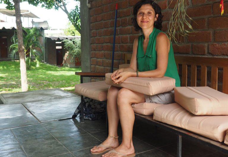 Marita Bosch, miembro del Equipo Itinerante fundado por el P. Perani en Brasil, y que recorre la Amazonía para vivir con las comunidades indígenas y ribereñas. Noviembre 2018. Foto: José Lorenzo