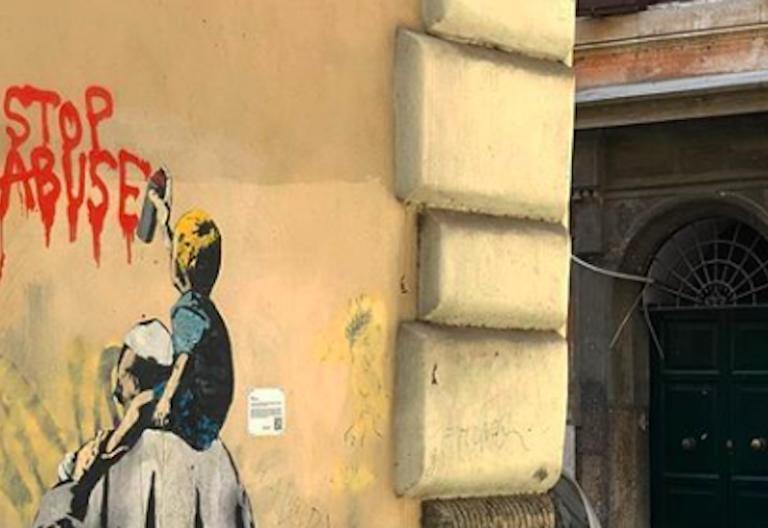 mural papa abusos