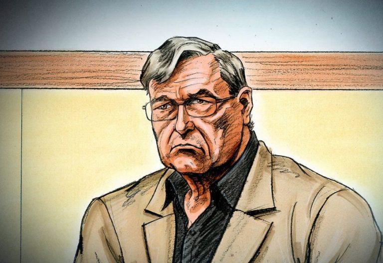 Ilustración del cardenal George Pell en el Tribunal del estado de Victoria para escuchar su sentencia por abusos/EFE