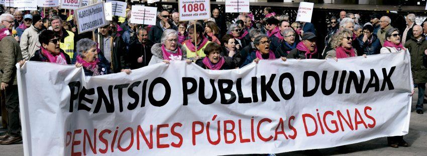 Protestas de pensionistas en Vitoria