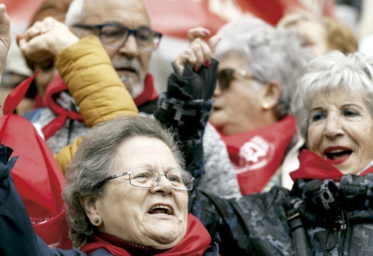 Protestas de pensionistas en Bilbao