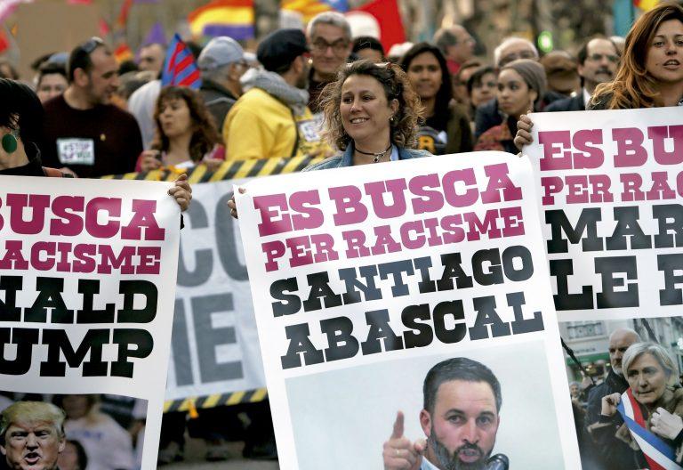 Manifestación contra el racismo en Barcelona