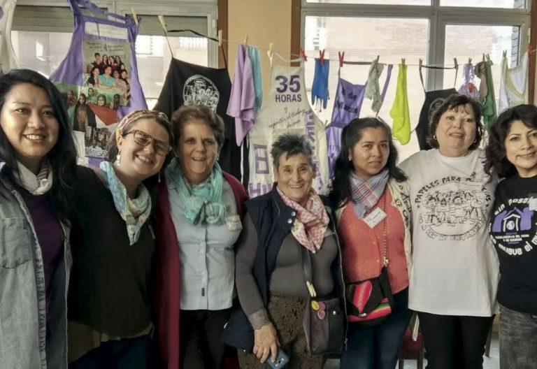 Empleadas del hogar acompañadas por las Siervas de San José