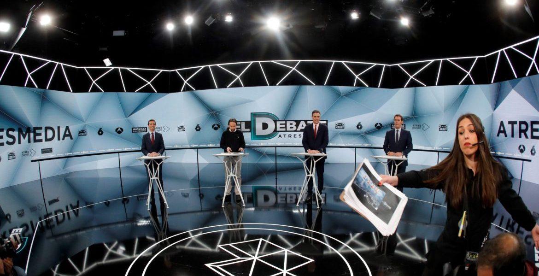 Los candidatos a presidir el Gobierno: Pablo Casado, Pablo Iglesias, Pedro Sánchez y Albert Rivera/EFE