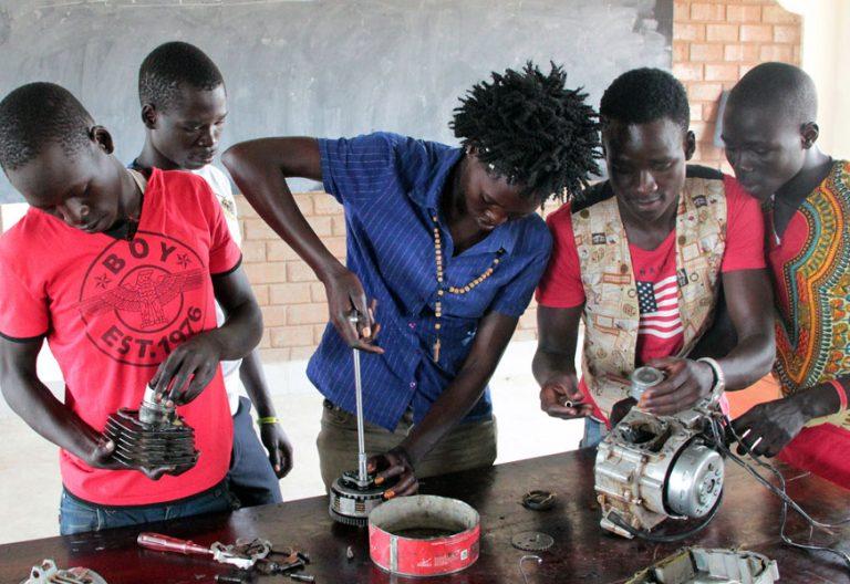 Gladys, refugiada en Uganda