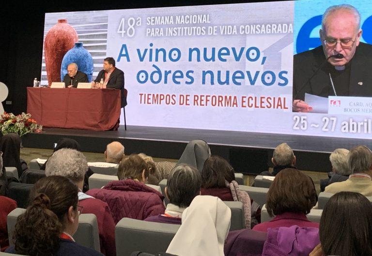 El cardenal Aquilino Bocos en la Semana Nacional para Institutos de Vida Consagrada