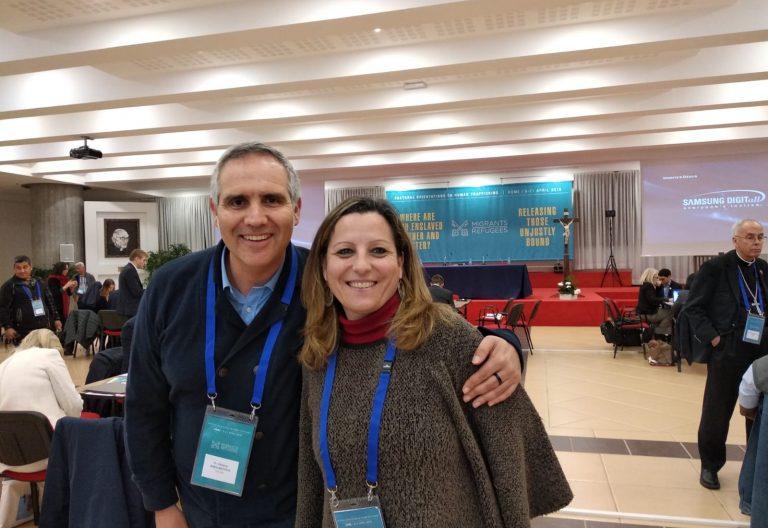Marifran Sánchez y Alberto Ares, jornada de Trata en Roma