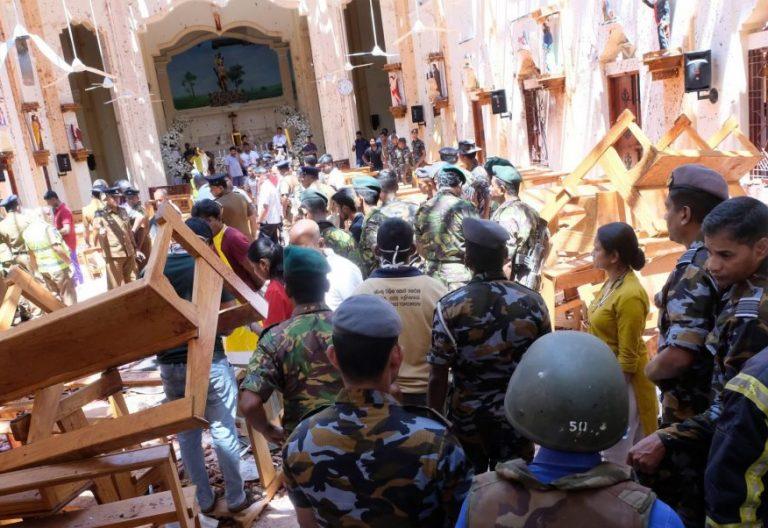 La iglesia de San Sebastián de Colombo, tras el atentado terrorista del Domingo de Resurrección en Sri Lanka/EFE