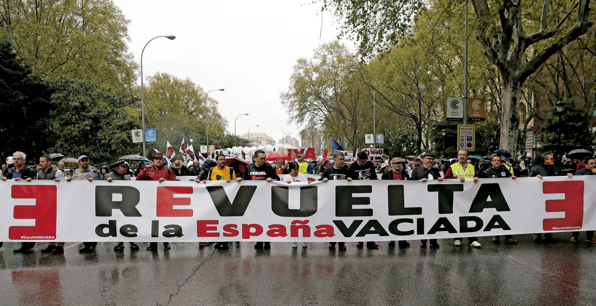 España vaciada manifestación en Madrid desde Teruel y Soria