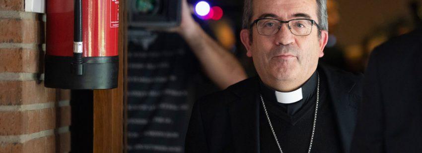 Luis Argüello, obispo auxiliar de Valladolid, el día que que fue elegido secretario general de la Conferencia Episcopal Española, el 21 de noviembre de 2018