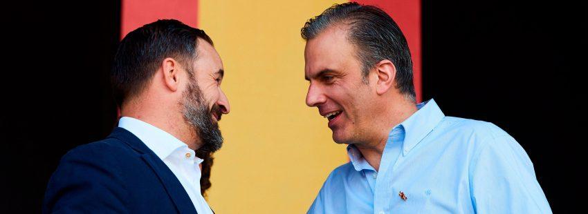 Santiago Abascal y Javier Ortega Smith, presidente y secretario general de Vox