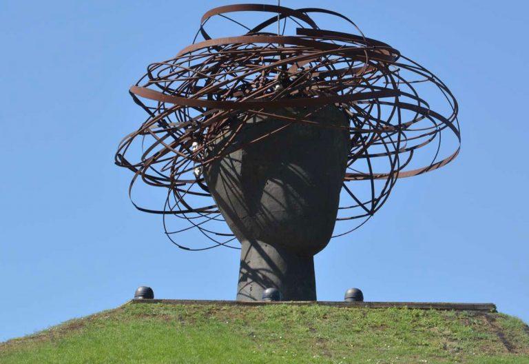 Cabeza de Ariadna, en el Parque Lineal del Manzanares