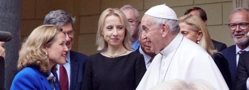 Foro cambio climatico Nadia Calviño papa Francisco