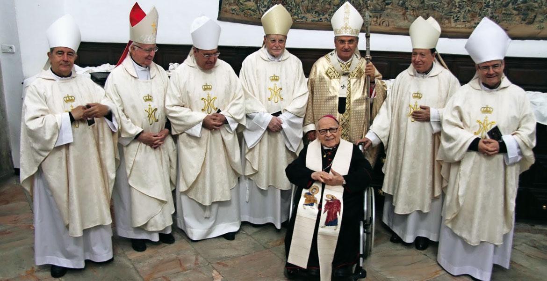 antonio-montero-bodas-oro-episcopales. Eucaristía de acción de gracias celebrada en Badajoz con los obispos de la Provincia Eclesiástica en abril de 2019
