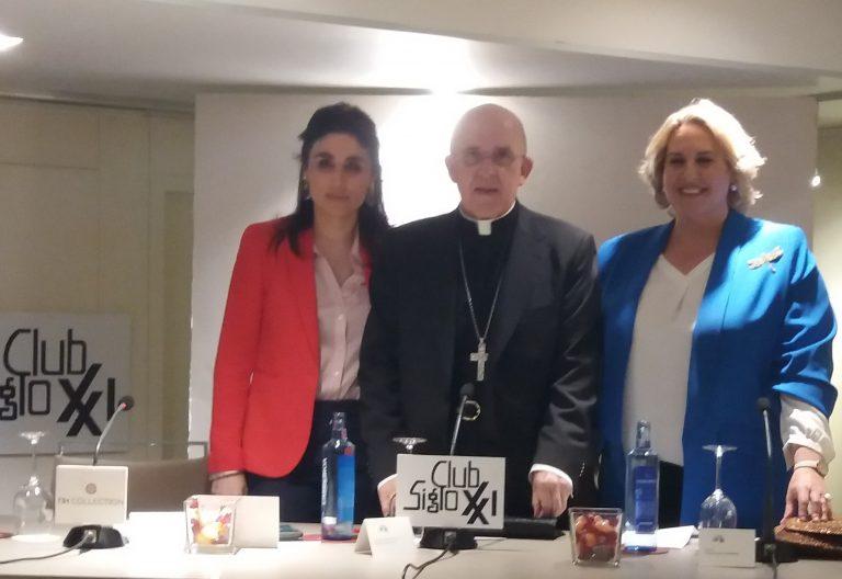 El cardenal Carlos Osoro, en el Club Siglo XXI de Madrid (28 de mayo de 2019)