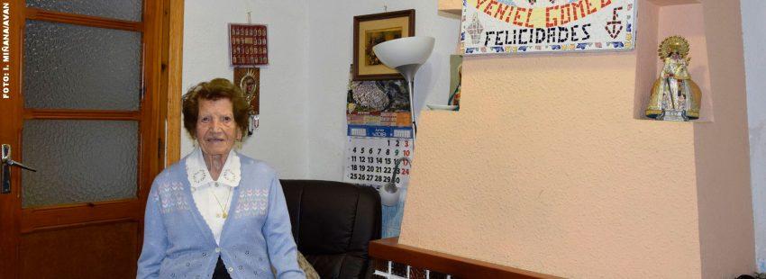 Clotilde Veniel, voluntaria de Cáritas Valencia con 107 años
