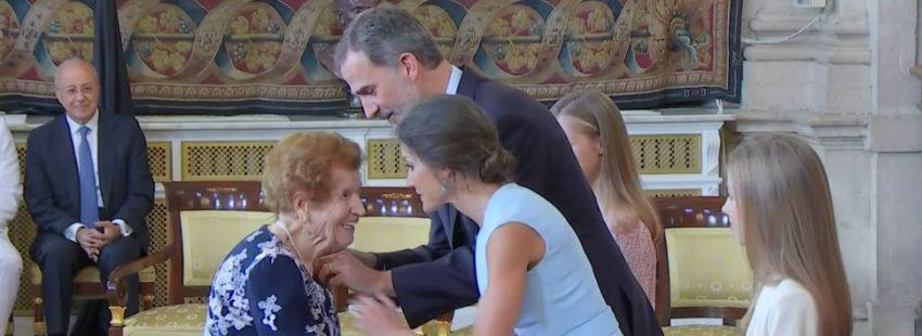 Clotilde Veniel, voluntaria de Cáritas 107 años