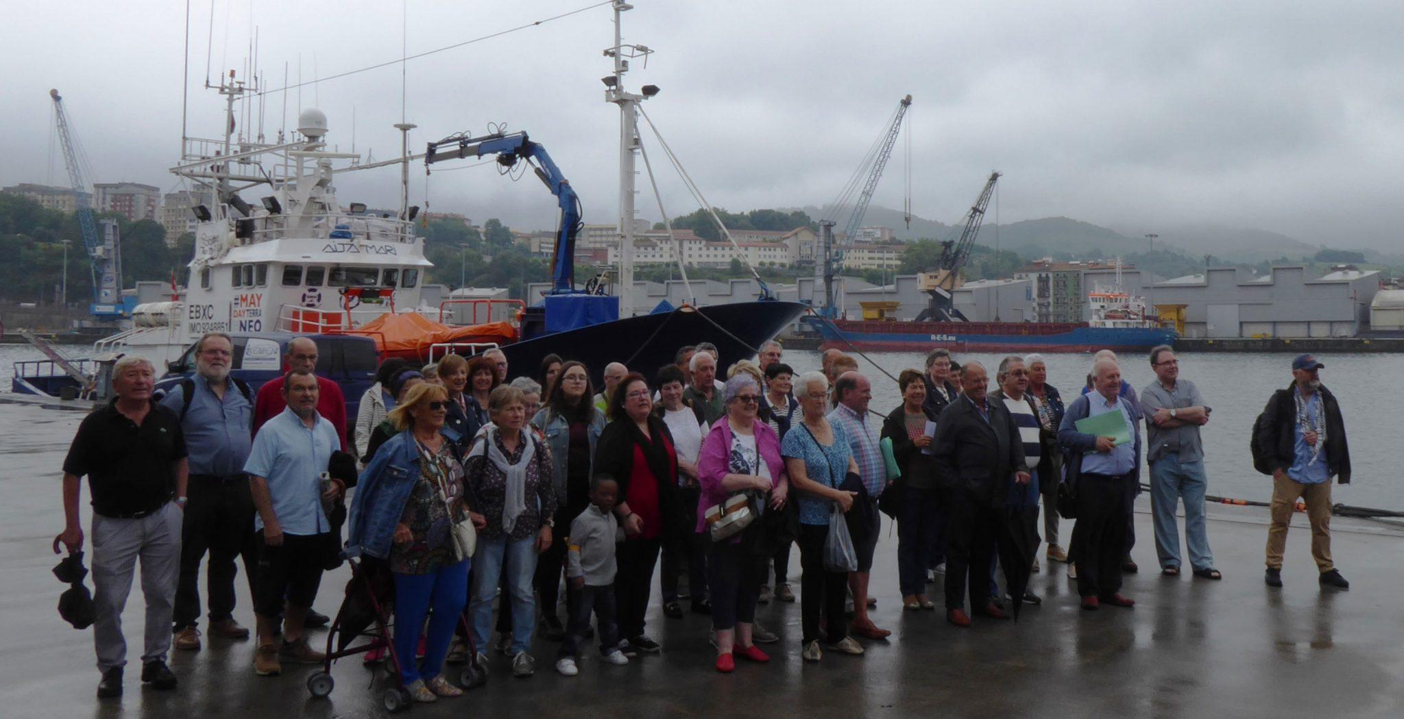 Apoyo barco Aita Mari San Sebastián