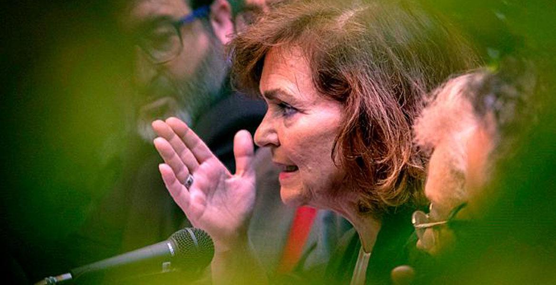 la vicepresidenta del gobierno carmen-calvo-en-carmona-sevilla julio 2019