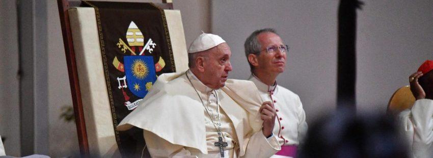 El Papa, durante el encuentro con los obispos de Madagascar